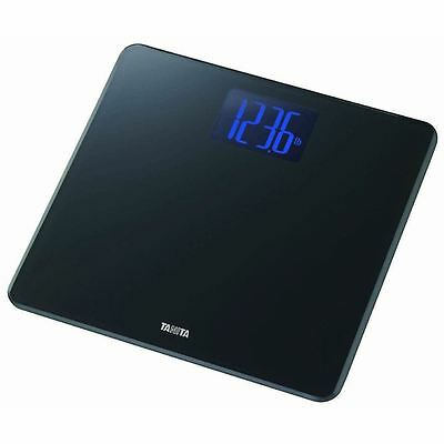 Tanita Black Digital LCD Glass Electronic Bathroom Weighing Body Scale HD366 New