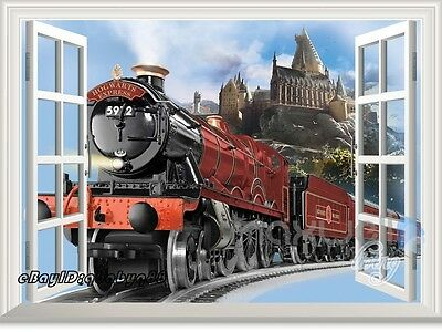 Harry Potter Hogwarts Castle Express 3D Window Wall Stickers Decals Party Decor