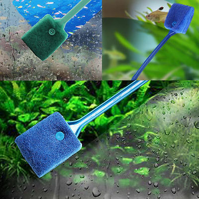 40CM Aquarium Fish Tank Double Sided Sponge Cleaning Brush Cleaner Scrubber