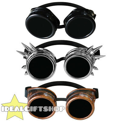 Steampunk Goggles With Black Lenses Fancy Dress Accessory Pick Colour Wholesale