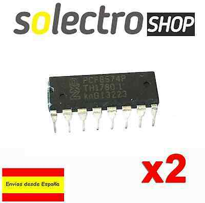 2 x PCF8574P I/O expansion board 8574 NXP IC expander 8bit I2C DIP Arduino T0010