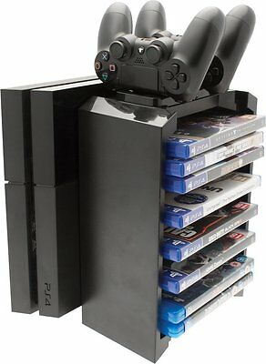 Venom PS4 2-in-1 Games Storage Tower & Twin Charging Dock - VS2736