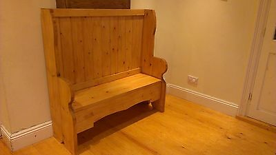 #Handmade bespoke rustic wooden pine bench/seat church pew settle FREE DELIVERY*