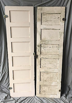 Pair Antique Cabinet Pantry Cupboard Doors Shabby Cottage Chic 1015-16