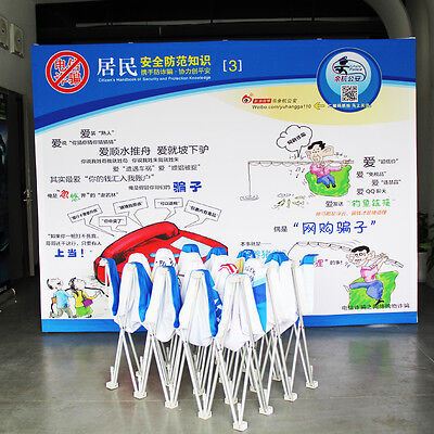 10ft×8ft portable pop up banner trade show display booth with custom graphic