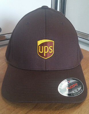 UPS United Parcel Service Flexfit Work Hat -CUSTOMIZED BY YOU! HIGHEST QUALITY.