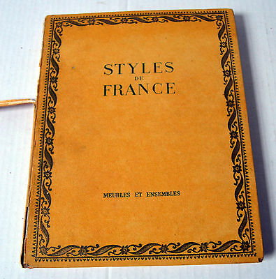 Vintage Hard Cover Architecture French Book Styles de France 1610-1920 Louis