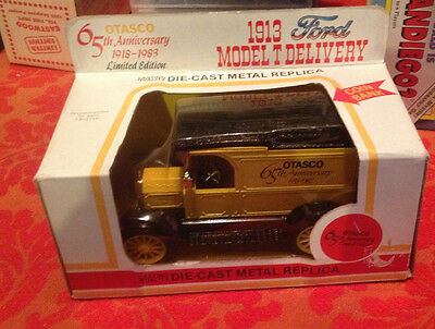 Vintage OTASCO Die Cast Yellow Delivery Truck Bank 65th Anniversary NIB