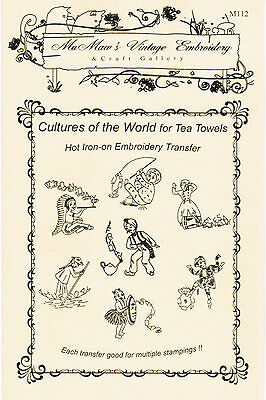 d023404fa2f650 M112 Around the World towel DOW Embroidery transfer pattern Hot Iron on