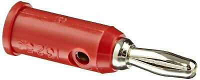 Pomona 1325-2 Solderless Banana Plug 30VAC/60VDC Red, Package of 10