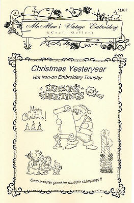 M307 Christmas Holiday Embroidery hot iron-on transfers 24+ images Angel Snowman