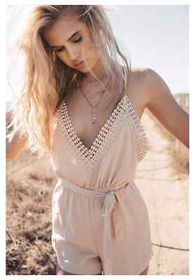 Womens Summer Playsuit. Colour as seen in images. UK Stock. One Day Dispatch.