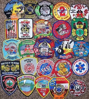 Clearance - Set # 33 - 25 Total Fire Patch Set  NO DUPLICATES IN SET