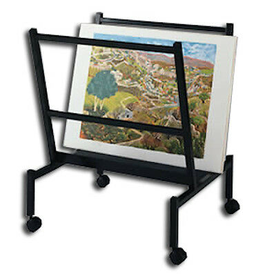 Art Print & Poster Display Rack ~ V-bin Style holds 25 print sleeves