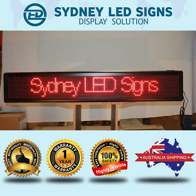LED MESSAGE SCROLLING SIGN DISPLAY BOARD INDOOR SEMIOUTDOOR  100CM By 23CM WIFI