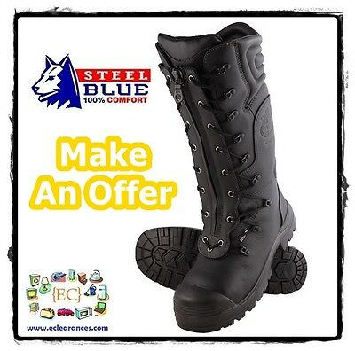 Steel Blue Telfer 382833 Miners Safety Boots Quick Zip Lace 350mm AU 13 EU 48