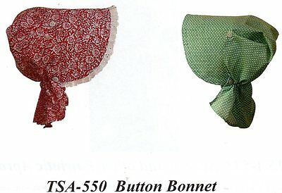 Civil War Style SUN BONNET BUTTON BONNET Timeless Stitches TSA-550
