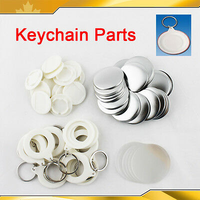 3 Sizes Keychain Button Badge Parts Supplies for Maker DIY Pendant