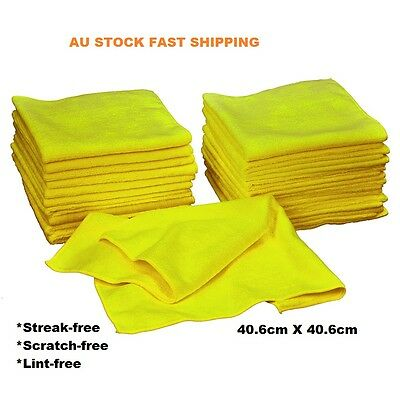 9x New Microfibre Cleaning Cloth Towel Large Size for Car Home Thick Ultra soft