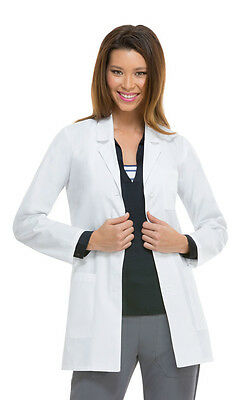 Scrubs Dickies Womens Antimicrobial 32''Lab Coat White 84400A WHWZ FREE SHIPPING