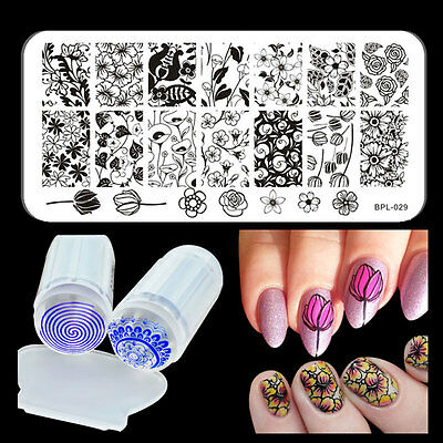 Born Pretty Nail Art Stamp Stamping Plate Roses Design Image Stamper