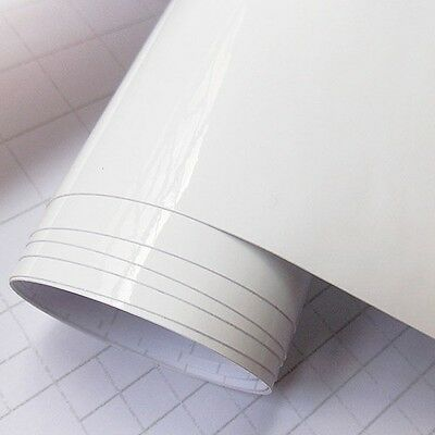 WHITE GLOSS SELF ADHESIVE STICKY VINYL - 5m ROLL