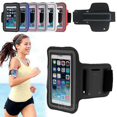 Sports Gym Running Slim Armband Holder Arm Strap Pouch Jogging Exercise Case