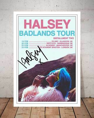 Halsey Badlands Tour 2016 Concert Flyer Autographed Signed Print