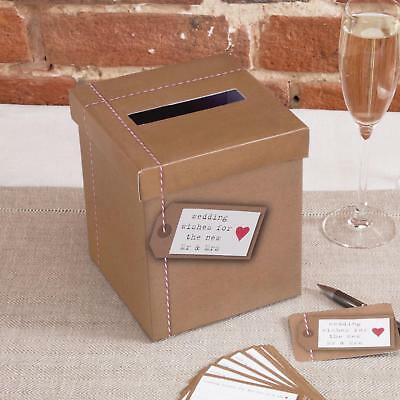 Just My Type Rustic Vintage Wedding Wish Card Small Post Box Flat Packed