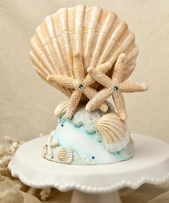 Life's a Beach Theme Sea Shell Starfish Wedding Party Day Cake Topper