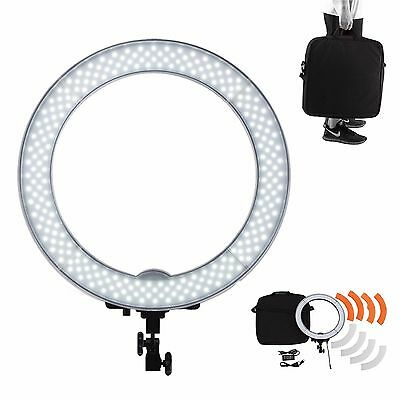 "Dimmable Diva 180pcs 14"" 40W LED Ring Light Camera Photo Video Make Up Studio"