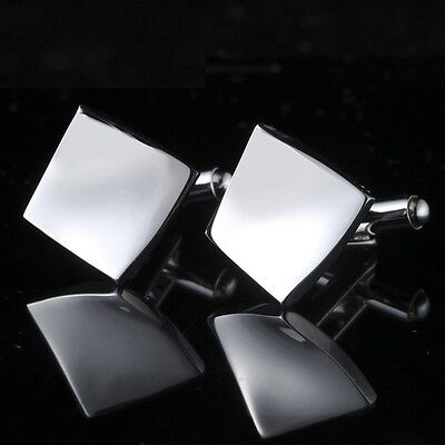 Retro Stainless Steel Men's Boy Wedding Business Party Cuff Links Groom Gift