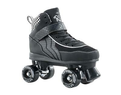 SFR Rio Roller Mayhem Kids/Adult Quad Roller Skates - Black White