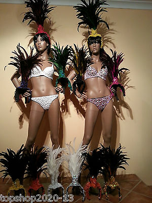 NEW Samba Headdress-pieces for Costumes Outfits Brazilian Dresses- 12 colours