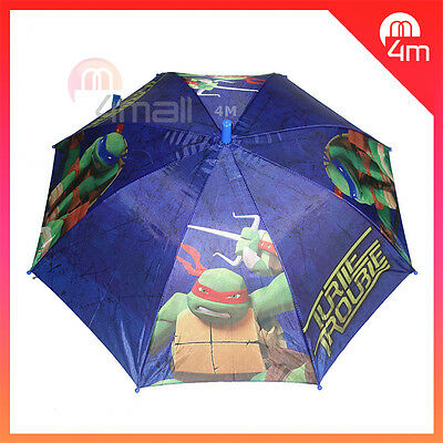 Kids Boys Umbrella Parasol Raincoat Rainproof TMNT Teenage Mutant Ninja Turtles