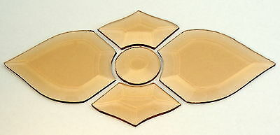 TIVOLI BEVEL CLUSTER in peach-   for all leadlight work