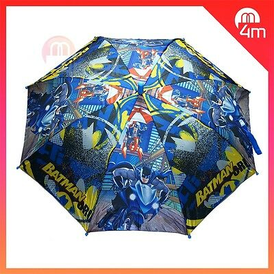 Kids Boys Umbrella Parasol Raincoat Rainproof Batman Hero Sun-shade Juniors Gift