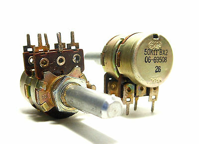 ALPS Japan 50K Ohm Dual B LINEAR Pot 1970s Potentiometer NOS Pedal Volume Audio