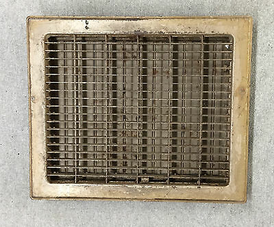 Vintage Stamped Steel Floor Heat Grate Register Vent Old Hardware 10x12 1023-16