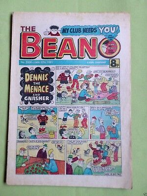 The Beano  - Uk Comic - 17 Jan 1981  -#2009