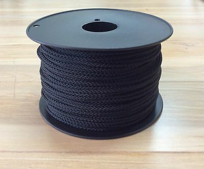 Professional Picture Framing 2.5mm Plaited Polyester VB Black Cord 100m Roll