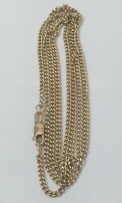 """14k Yellow Gold Chain Link Necklace 22"""""""