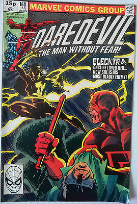 DAREDEVIL # 168, 1st APPEARANCE ELEKTRA, KEY ISSUE.