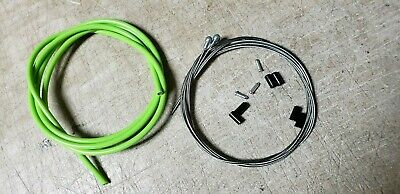 Bicycle Bike Road Brake Cable Set W// innerwires /& housing 1 front 1 rear Green