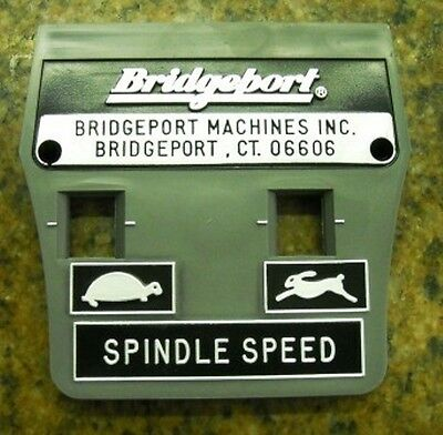 New Plastic Face Plate For Bridgeport Series I Vs Mill With A 2Hp Head