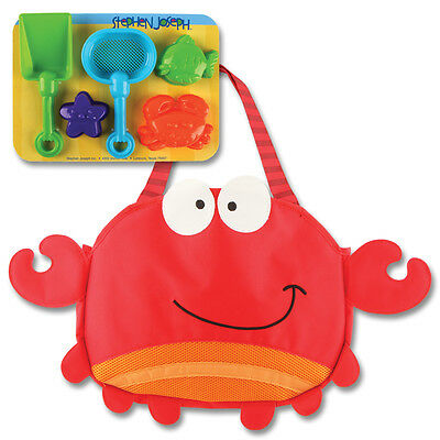 Stephen Joseph Crab Beach Tote with Sand Toys for Kids - Boys & Girls Tote Bag