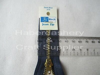 Closed End Jean Zipper/zip 4Y Gold Metal Teeth **pick 1 Size*dark Blue