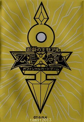 (100) YU-GI-OH Card Deck Protectors King's Key Card Sleeves Gold