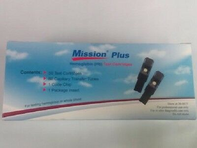 50 Brand New Acon Mission Plus Hemoglobin Tests