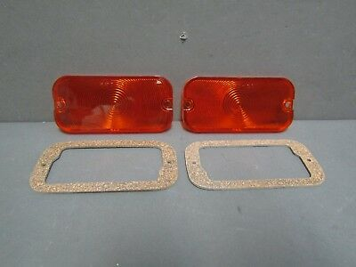 Ford Galaxie Mercury park lamp lens and gaskets Fairlane Comet Thunderbird amber